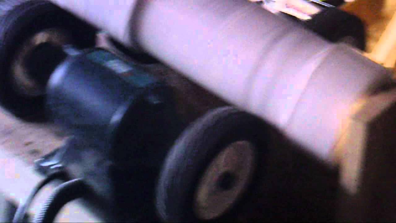 Home made rock tumbler coin cleaner doovi for Diy rock tumbler motor