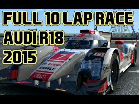 Real Racing 3  Full 10 lap race 2015 Audi R18 E-Tron Quattro at Le Mans Gameplay