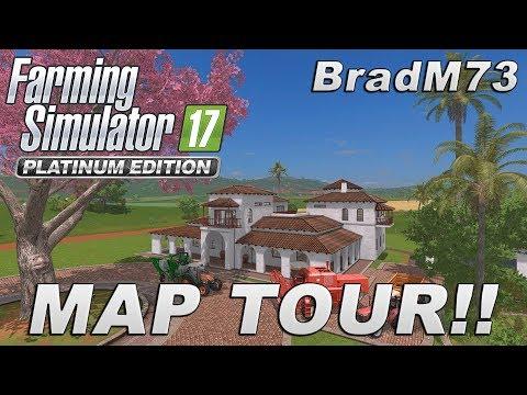 FARMING SIMULATOR 17 PLATINUM EDITION - MAP TOUR!!!