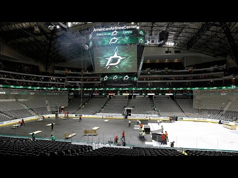 TIMELAPSE: Watch as AAC transitions from Mavericks to Stars game in same day