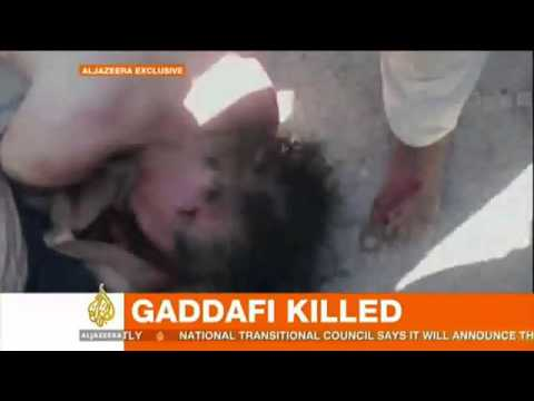 Gadhafi killed -  End of an era for Libya  - WARNING GRAPHIC CONTENT - National News.
