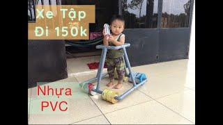 Sáng Tạo Nhựa PVC - Xe Tập Đi Cho Bé - 4 Bánh Bằng Lon Sữa - 150k