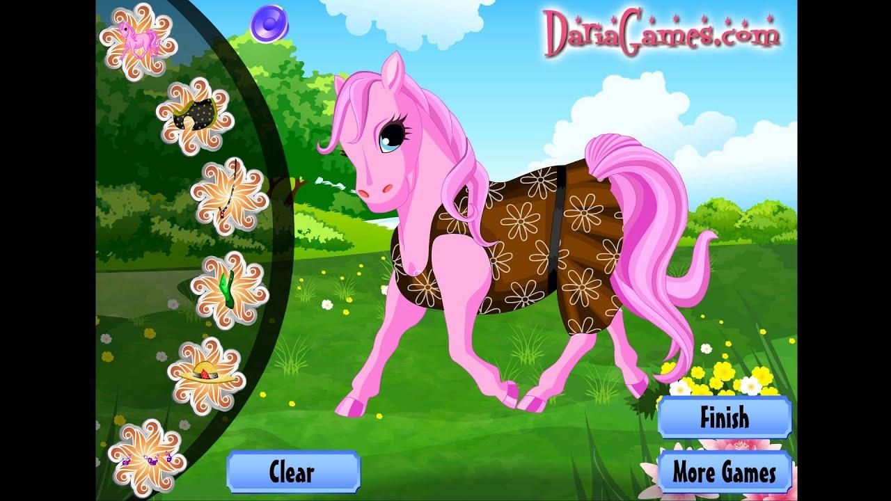 NEW мультик онлайн для девочек—Пони одевалка—Игры для ...