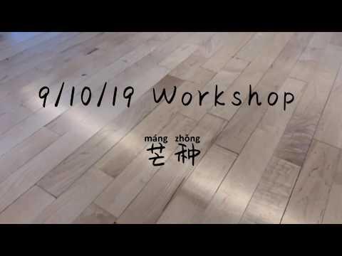 D-Vine ent. 9/10/19 Workshop 芒种舞蹈