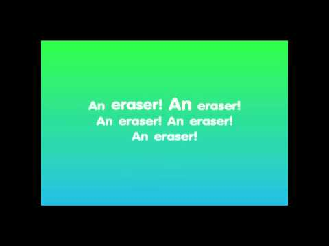 "Classroom Objects: kids English karaoke song - ""An Eraser!"""