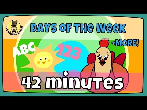 Days of the week song + more   Kids song compilation   The Singing Walrus