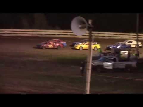 Hummingbird Speedway (9-1-18): Aaron's Four-Cylinder Heat Race #1