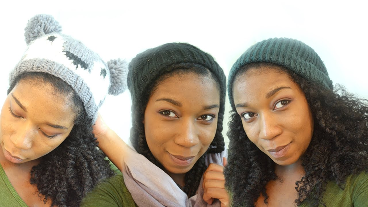 Different Ways to Wear Your Beanie Hat with Natural Hair - YouTube 5d04079f46c
