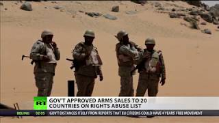 Tories approve arms sales to 20 countries on human rights list