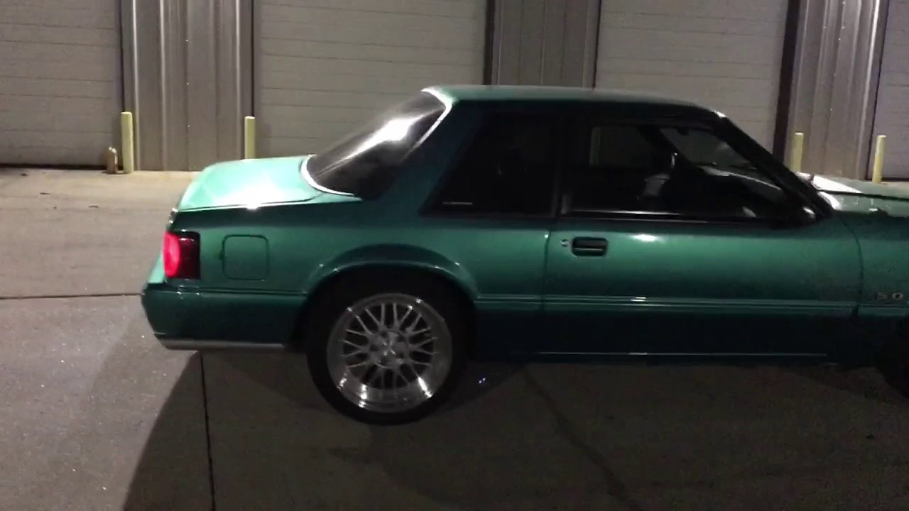 Fox Body Wheels >> 92 foxbody mustang coupe supercharged calypso green - YouTube