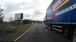 Drive West On M80 Motorway From Perth To Glasgow Scotland