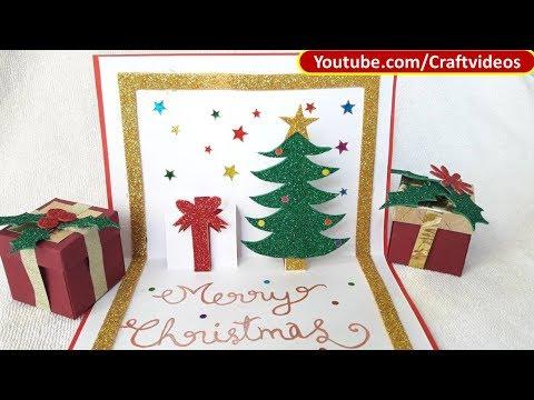 pop up christmas card tutorial handmade christmas card ideas - Handmade Christmas Card Ideas
