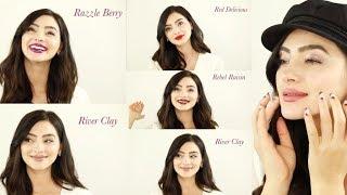 Grande Lips color swatch video
