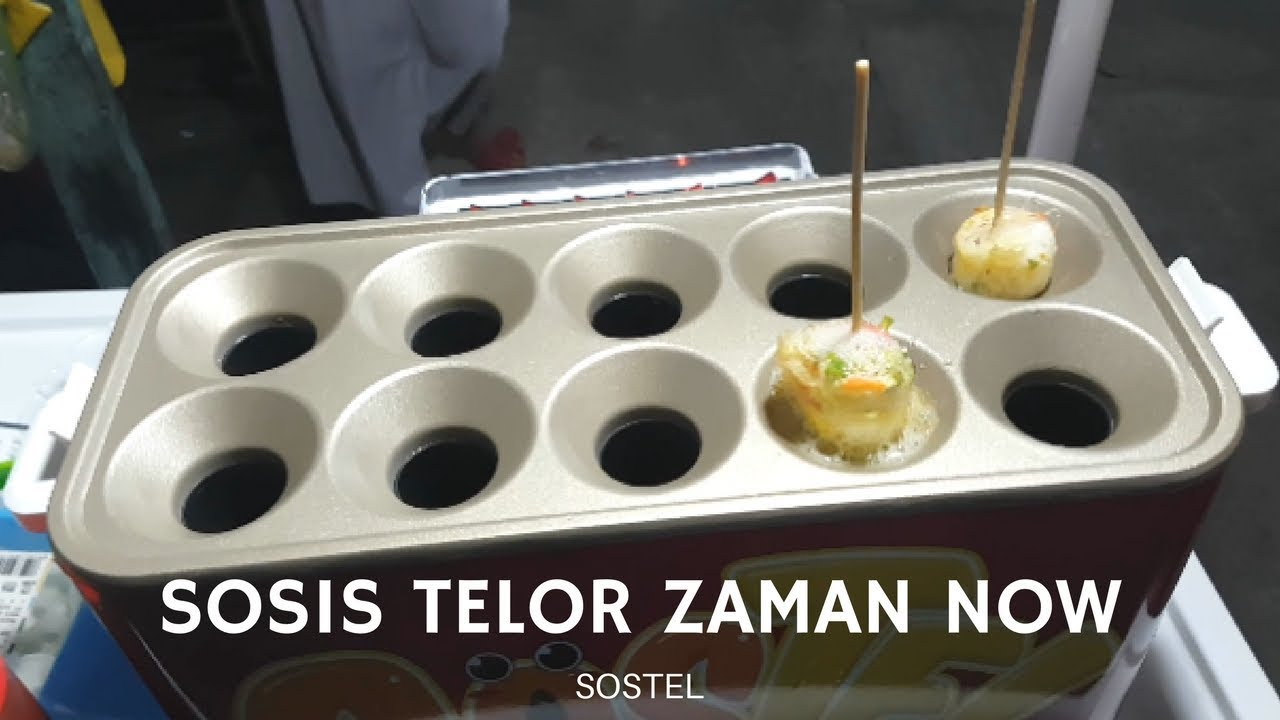 Jajanan Unik Sostel Sosis Telor Zaman Now Pontianak Street Food Alat Telur 4 Lubang Mesin Lobang Egg Roll