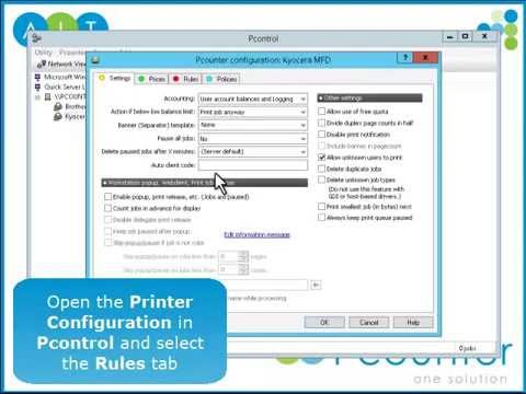 Print Management Software | How to set up Rules in Pcounter | How-To Guide