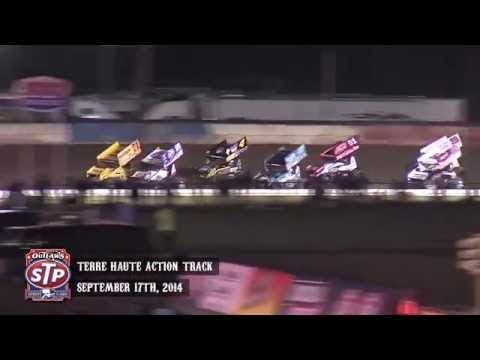 Highlights: World of Outlaws STP Sprint Cars Terre Haute Action Track September 17th, 2014