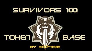 War Commander - Survivors (100) Token Base, Updated Video.