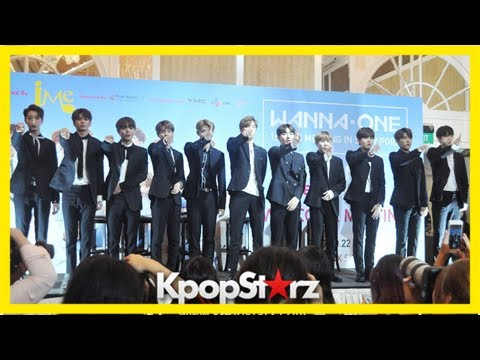 Wanna-one charms media and fans at press conference in singapore
