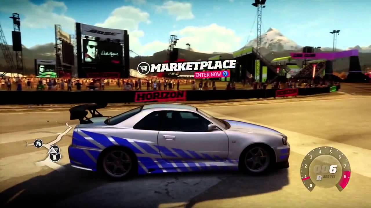 Forza Horizon Tuning Setups Brian's Skyline (2 Fast 2 Furious Car)