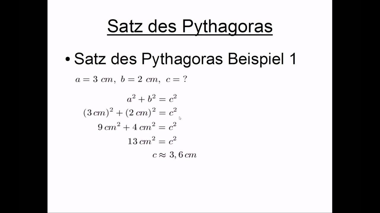 Satz Des Pythagoras 10