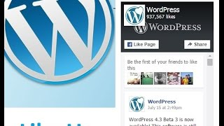 How to Add Facebook Page Plugin in WordPress website (2017)