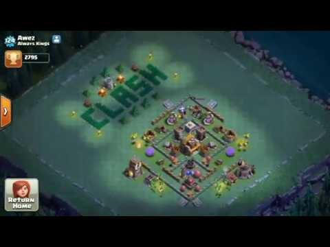 Clash of Clans AMAZING DESIGN OF 'CLASH' BY DECORATION ONLY