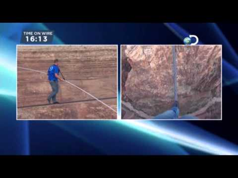 Nik Wallenda Crosses Canyon On Tightrope YouTube - Nik wallendas epic blindfolded skyscraper tightrope walk