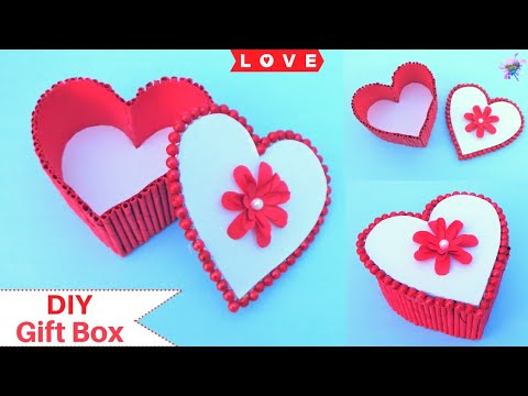 DIY Heart shaped Gift Box | Valentine's Day Gift Ideas 2019 | Paper Craft