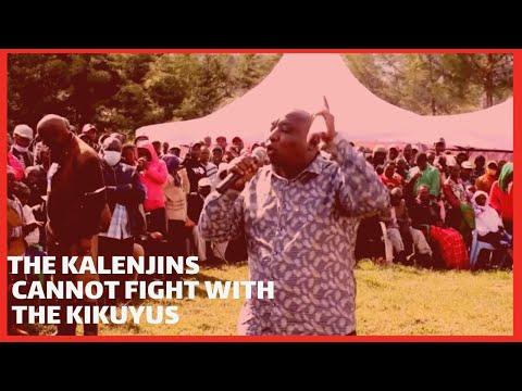 Members of the Kalenjin and Kikuyu community are joined in the hip-Kipkelion West MP Hilary Koskei