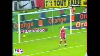 Pauleta face à Fabien Barthez (PSG-OM)