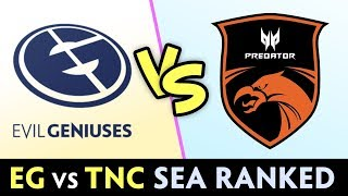 EG vs TNC in SEA Ranked — Arteezy + Ramzes vs TOP-1 Armel + Tims