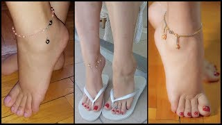 New anklet bracelets designs 2019 | Ankle jewelry | Foot jewelry