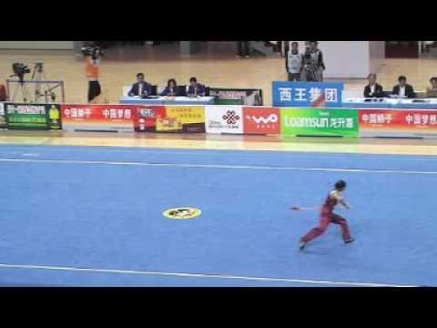Compétition Kungfu (Wushu) Lance Féminin en Chine