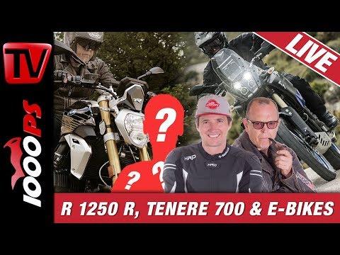 BMW R 1250 R, Tenere 700 und E-Bikes - 1000PS Live die Motorradtalkshow
