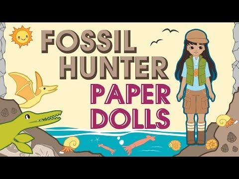 Paper Dolls   Fossil Hunter Dolls & Accessories DIY Crafts
