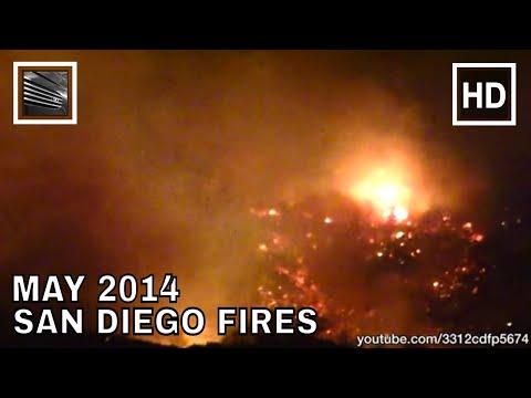 San Diego Fires May 2014, RAW footage