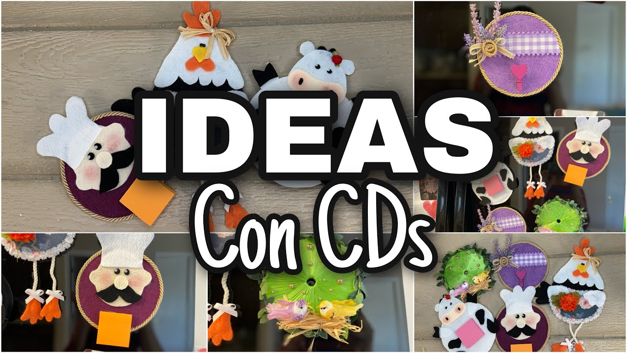 5 IDEIAS INCRÍVEIS COM CD/Manualidades con Cd's/5 Genius way to reuse old cd