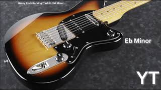Eb Minor Guitar Backing Track Heavy Rock