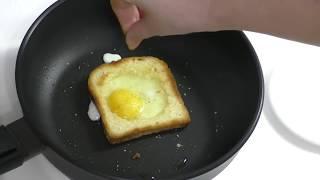ЯИЧНИЦА В ХЛЕБЕ//Горячие бутерброды с яйцом//Бутерброды на завтрак за 5 минут