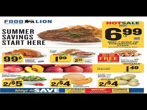 Food Lion Weekly Ad Millsboro De For This Week To 711 2017 Youtube