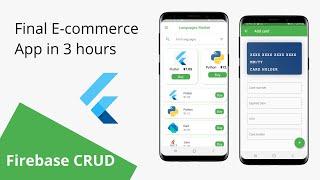 3. Final  E-commerce APP in 3 hours (Firebase CRUD)