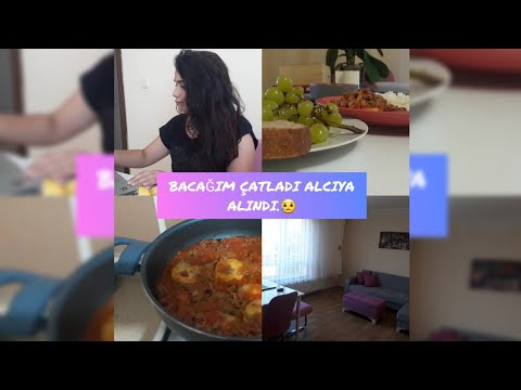 VLOG / BACAĞIM CATLADI ALÇIYA ALINDI 😱 / PATATES OTURTMA