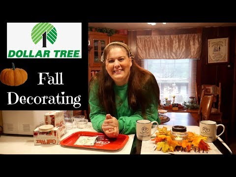 Dollar Tree Fall Decorating  On a Budget 2019