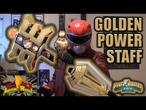 Legacy Golden Power Staff Unboxing & Review (Power Rangers Zeo)