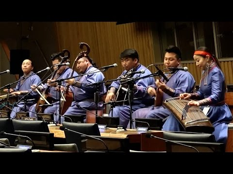 Mongolian Ballad Group Khusugtun Perform At United Nations