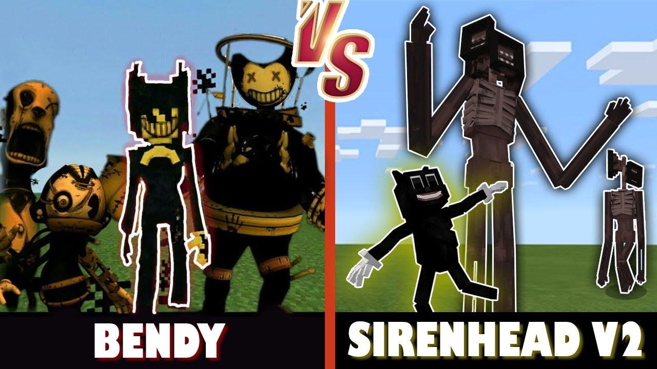 Bendy and the Ink Machine vs. SirenHead V2  | Minecraft (MEME BATTLE!)