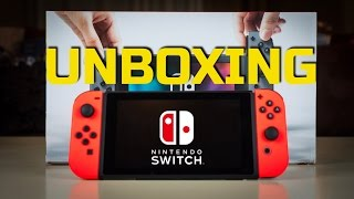 Nintendo Switch Unboxing + Red Joy-Con Switch + Nintendo Switch Giveaway!