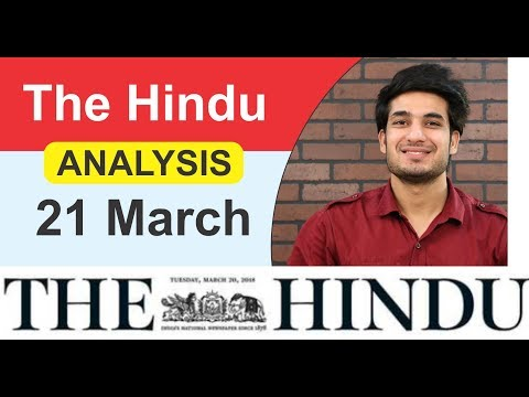 21 March 2018- The Hindu Editorial News Paper Analysis- UPSC/BANK/SSC -AnujGarg Coaching