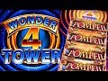 ★SUPER FREE GAMES!! TO THE TOP!★ POMPEII WONDER 4 TOWER Slot Machine Bonus Big Win (Aristocrat)
