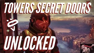 Destiny 2 Glitches | What's behind the Secret Doors at the Tower? | Glitch Through Walls